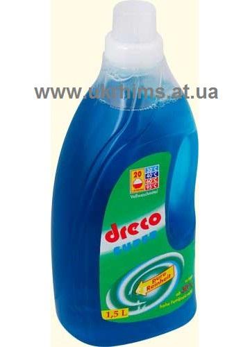 Без фосфатов Гель-концентрат DRECO для стирки цветного и белого белья. 1,5 л - 20 стирок